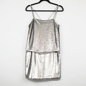 Banana Republic | Silver Sequin Dress 0